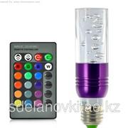 Светодиодная лампа RGB - 270 люмен, 3 Вт, E27, пульт дистанционного управления фото