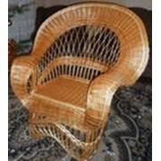Плетеное кресло из лозы Королевское фото