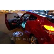 Подсветка в двери автомобиля Лазерная проекция логотипа авто купить в Украине фото