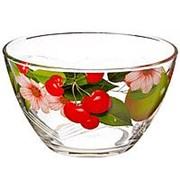 Салатник стеклянный 1500мл Ягоды фото