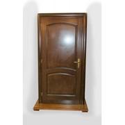 Дверь входная темно-коричневая фото