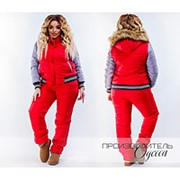 Женский теплый спортивный костюм, р-ры 42-54 (3 цвета) фото