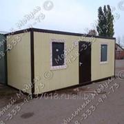 Блок контейнер 6х2,4 швеллер 100х50 фото