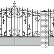 Ворота кованые Вк-08 фото