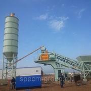 Зимний бетонный завод HZS 75 фото