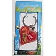 Брелок Сердце LOVE золотом в коробке CP-23 5x10см фото