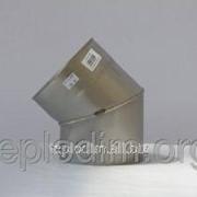 Колено 45* 0,8мм ф 130 м из нержавеющей стали фото