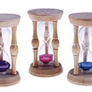 487773 Часы песочные круглые, 70 сек., синий песок фото