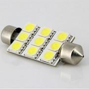 Лампы автомобильные светодиодные SJ- 9 SMD LED GREEN 36 мм12V фото