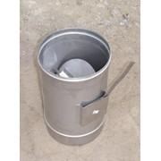 Регулятор тяги с теплоизоляцией: н / оц, 0,5 мм, диаметр (ф230 / 300) фото