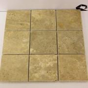 Мозаика из травертина 10х10 мм фото