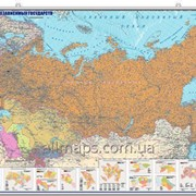 Политическая настенная карта СНГ 95х145 см; М1: 6 500 000 - ламинированная/на планках фото