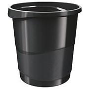 Корзина для мусора 14 литров Esselte Europost VIVIDA, черная фото