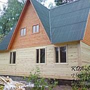 Дом из бруса с мансардой ДБ-1 фото