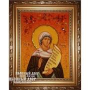 Илария - Именная Икона Из Янтаря, Помощница В Семейных Проблемах И Безбрачии Код товара: Оар-145 фото