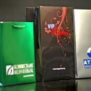 Пакеты бумажные с фирменным логотипом фото