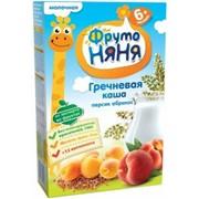Фрутоняня каша гречка, персик и абрикос с молоком (с 4 мес) 200г фото