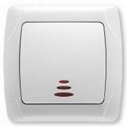 Выключатель 1-клавишный с подсветкой VI-KO CARMEN белый фото