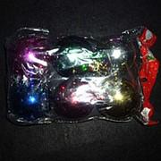 Новогодние шары 6шт 6см глянец 4124 фото