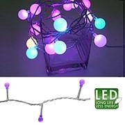 Гирлянда-цепочка прозр кабель лиловая мигающая 5+6м фото