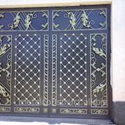 Ворота сплошные кованые №20 фото
