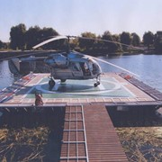 Вертолетные площадки - Вертолетные площадки на воде. фото