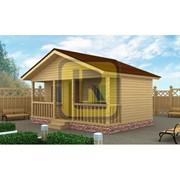 Дом из бруса Проект №1 (6х4 с терассой) фото