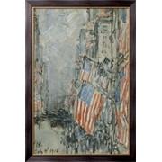 Картина День флага, Пятая Авеню, 4 июля 1916, Хассам, Фредерик Чайлд фото