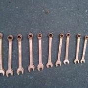 Ключи гаечные накидные Омедненные  фото