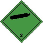 Знак-табло опасности на транспортное средства 250*250мм, самоклеющаяся пленка, для всех классов. фото