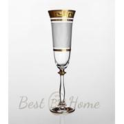Набор бокалов для шампанского Angela (золото) фото