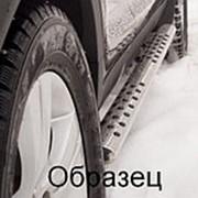 Пороги Nissan Murano 2008-2016 (труба овал с проступью 75х42 мм) фото
