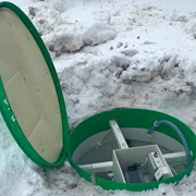 Монтаж очистных сооружений Тополь зимой фото