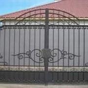 Распашные ворота фото