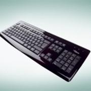Клавиатура KB SLIM MF PIANO BLACK RUS GB фото