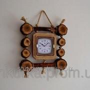 Часы из дерева ЧД 007 фото