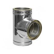 Тройник с термоизоляцией 87 ф300/360 0.5 мм н/оц фото