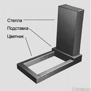 Памятники из гранита прямоугольной формы (Габро, Карелия) фото