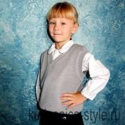 Вязаные жилеты школьные фото