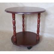 Журнальный столик на колесиках Viitorul, диаметр: 600 mm фото