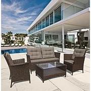 Плетеный комплект для отдыха с диваном AFM-804 Brown фото