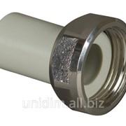 Переходник пластиковый с накидной гайкой FV Plast 32-11/4 фото