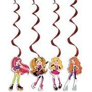 Бумажное украшение подвеска-спираль Party Girl 16см фото