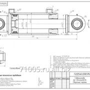 Гидроцилиндр опорных колёс БДМ ГЦ-125.63.200.515.50U фото