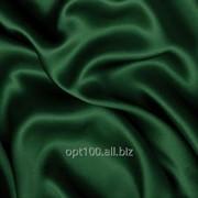 Атлас однотонный средней плотности цвет темно-зеленый 18/240 фото