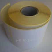 Термоэтикетки 80х50, 500 этикеток в роле фото