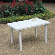 Аренда пластикового стола прямоугольного 125*75 см, прокат пластиковой мебели фото