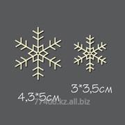 Чипборд Пара снежинок 3 фото