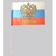 Флажок малый РОССИЙСКАЯ ФЕДЕРАЦИЯ 15х22 фото