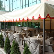 Отель Астра летнее кафе, тентовые сооружения фото